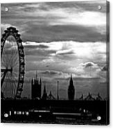 London Silhouette Acrylic Print by Jorge Maia
