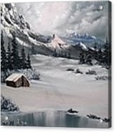 Lonely Cabin Acrylic Print by John Koehler