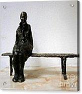 Lonely Girl Acrylic Print by Nikola Litchkov
