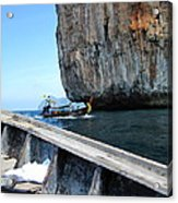 Long Boat Tour - Phi Phi Island - 0113124 Acrylic Print by DC Photographer