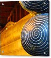 Long Buddha Statue Acrylic Print by Chaichana Pratomwong