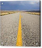 Long Lonely Road Acrylic Print by Adam Romanowicz