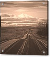 Long Road Home Acrylic Print by Laura Bentley
