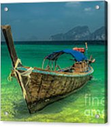 Longboat Acrylic Print by Adrian Evans