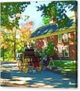 Longfellows Wayside Inn Acrylic Print by Barbara McDevitt