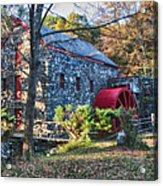 Longfellow's Wayside Inn Grist Mill In Autumn Acrylic Print by Jeff Folger