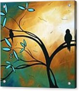 Longing By Madart Acrylic Print by Megan Duncanson