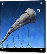 Look At Me Moon Acrylic Print by Gianfranco Weiss