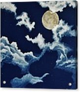 Look At The Moon Acrylic Print by Katherine Young-Beck