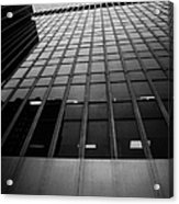 Looking Up At 1 Penn Plaza On 34th Street New York City Usa Acrylic Print by Joe Fox