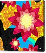 Lotus Flower Bombs In Magenta Acrylic Print by Kenal Louis