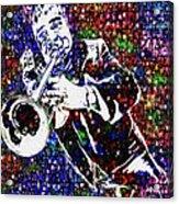 Louie Armstrong Acrylic Print by Jack Zulli