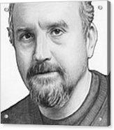 Louis Ck Portrait Acrylic Print by Olga Shvartsur