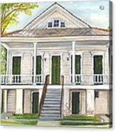 Louisiana Historic District Home Acrylic Print by Elaine Hodges