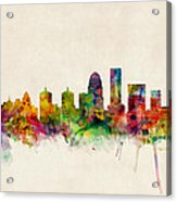 Louisville Kentucky City Skyline Acrylic Print by Michael Tompsett