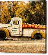 Loukonen Farms Pumpkin Truck Acrylic Print by Catherine Fenner