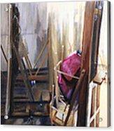 Louvre Closet Acrylic Print by Shelley Irish