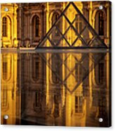 Louvre Sunset Acrylic Print by Brian Jannsen