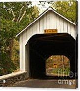 Loux Bridge And Sharp Left - Bucks County  Acrylic Print by Anna Lisa Yoder