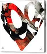 Love 18- Heart Hearts Romantic Art Acrylic Print by Sharon Cummings