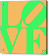 Love 20130707 Green Orange Acrylic Print by Wingsdomain Art and Photography
