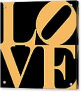 Love 20130707 Orange Black Acrylic Print by Wingsdomain Art and Photography