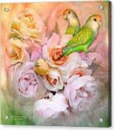 Love Among The Roses Acrylic Print by Carol Cavalaris