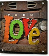 Love And A Ford Truck Acrylic Print by Carla Parris