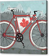 Love Canada Bike Acrylic Print by Andy Scullion