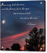 Love From The Soul Acrylic Print by Bill Wakeley