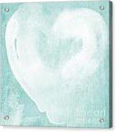 Love In Aqua Acrylic Print by Linda Woods