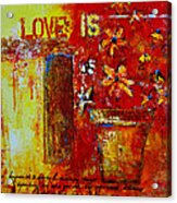 Love Is Abstract Acrylic Print by Patricia Awapara