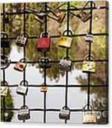 Love Locks Acrylic Print by Juan Romagosa