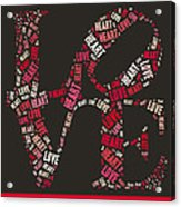 Love Quatro Heart - S111b Acrylic Print by Variance Collections