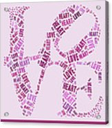 Love Quatro - Heart - S44b Acrylic Print by Variance Collections