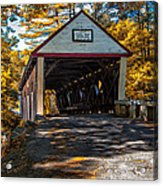 Lovejoy Covered Bridge Acrylic Print by Bob Orsillo