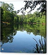Lovely Lake Acrylic Print by Cleaster Cotton
