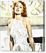 Lovely Rita Acrylic Print by Mo T