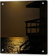 Lovers Moon Acrylic Print by Rene Triay Photography