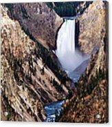 Lower Yellowstone Falls Acrylic Print by Bill Gallagher