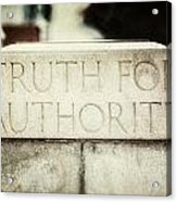 Lucretia Mott Truth For Authority Acrylic Print by Lisa Russo
