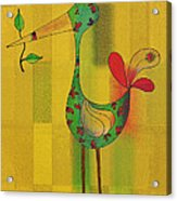 Lutgarde's Bird - 061109106y Acrylic Print by Variance Collections
