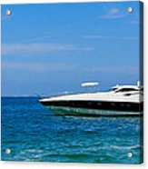 Luxury Boat Acrylic Print by Aged Pixel
