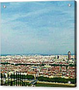 Lyon From The Basilique De Fourviere-color Acrylic Print by Paulette B Wright