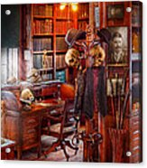 Macabre - In The Headhunters Study Acrylic Print by Mike Savad