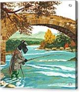 Macduff Fishing Acrylic Print by Margaryta Yermolayeva