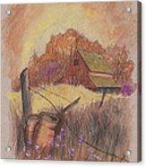 Macgregors Barn Pstl Acrylic Print by Carol Wisniewski