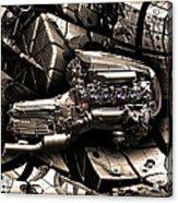 Machinery Abstract Acrylic Print by Radoslav Nedelchev