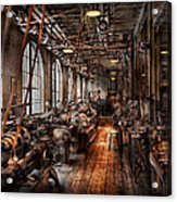 Machinist - A Fully Functioning Machine Shop  Acrylic Print by Mike Savad