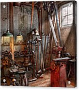 Machinist - The Modern Workshop  Acrylic Print by Mike Savad